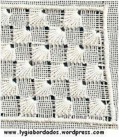 Pulled thread with ray stitch Embroidery Designs, Types Of Embroidery, Learn Embroidery, Embroidery Needles, Hand Embroidery, Hardanger Embroidery, Cross Stitch Embroidery, Cross Stitch Patterns, Drawn Thread