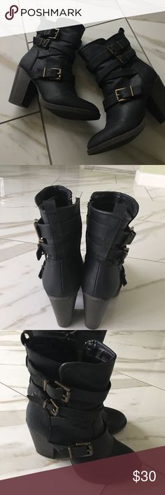 CANDIES BOOTIES. LIKE NEW Candies ankle booties with heel. Excellent condition. Candie's Shoes Ankle Boots & Booties
