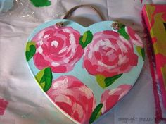 Sorority crafts and how to paint Lilly! DEBBIE WILLIAMS please learn how to do this !!!!