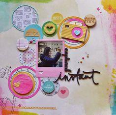 Briciole di Scrapbooking: Circle addicted cerchi, colori