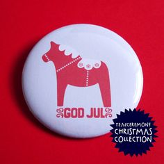 God Jul Christmas Badge
