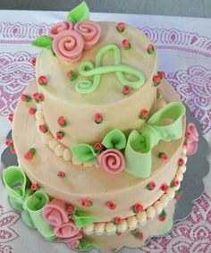 Made this one for a baby shower for a friend celebrating the upcoming birth of her daughter Abigail.  Cake is a hot milk cake recipe with pi...