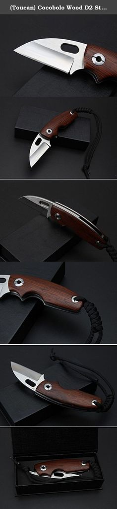 (Toucan) Cocobolo Wood D2 Stainless Steel Pocket Folding Knife, Limited Edition, Best Choice for Survival, Camping, Craft, Gardening or Outdoor Gear. Patent product with unique structure and innovative design , put away the traditional construct. This might be one of the slickest knife mechanisms made but it shouldn't be thought of as just being a novel design, its also a very nice quality folder that carries a very nice blade and a strong lock. Usage: Suitable and convenient folding…