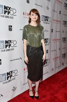 "Emma Stone Photos - Closing Night Gala Presentation Of ""Birdman Or The Unexpected Virtue Of Ignorance"" - Arrivals - 52nd New York Film Festival - Zimbio"