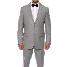 Zonettie by Ferrecci Men's Slim Fit Light Pin Suit (/ W30)
