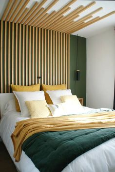 Green and White Modern Bedroom Ideas - Taryn Whiteaker