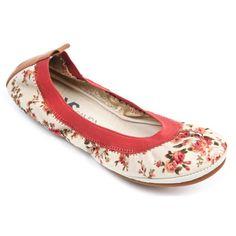 fd406196b0c Yosi Samra Womens Floral Two Tone Flats. Shop Kate