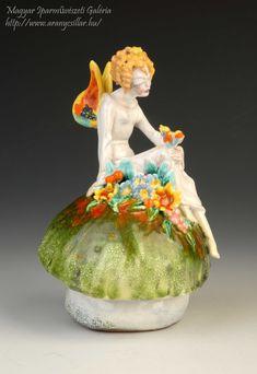 Ale, Art Deco, Fairy, Ceramics, Christmas Ornaments, Holiday Decor, Artist, Ceramica, Pottery