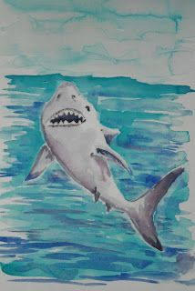 How to Draw Worksheets for Young Artist: How to Draw a Shark Attack, Lesson And Worksheet. Read it at the blog: http://drawinglessonsfortheyoungartist.blogspot.com/2012/08/how-to-draw-shark-attack-lesson-and.html