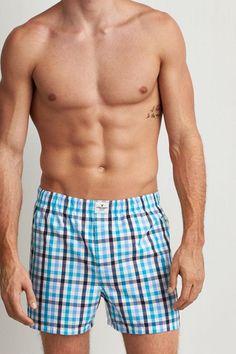 AEO Plaid Boxer, Men's, Size: XS, Turquoise