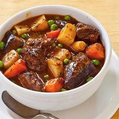 Crock Pot Country Beef Stew Recipe and other crock pot recipes Power Cooker Recipes, Pressure Cooking Recipes, Crockpot Recipes, Tupperware Pressure Cooker Recipes, Cubed Beef Recipes, Crockpot Beef Stew Recipe, Tefal Cook4me Recipes, Healthy Recipes, Slow Cooking