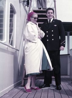 gatabella:Grace Kelly aboard the SS Constitution on her way to Monaco, 1956