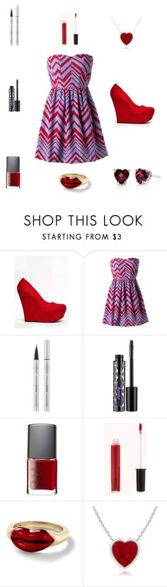 """""""keep going ur not there yet"""" by farahossama ❤ liked on Polyvore featuring Delicious, Eyeko, Urban Decay, NARS Cosmetics, Forever 21 and Alison Lou"""