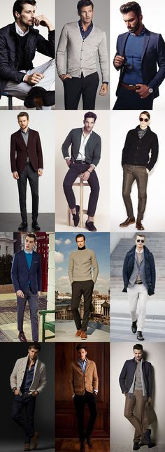 Key Pieces For Autumn Business-Casual : Merino Wool Knitwear, V-neck Jumpers, Chunky Shawl Neck Cardigans Lookbook Inspiration