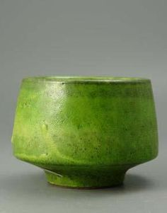 An Accolay Atelier 1950's Studio Pottery Bowl :: Quintessentia. Great color!