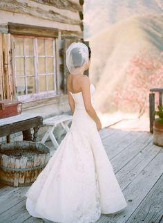 blusher veil with side headband