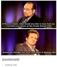 Colin Firth is an amazing man