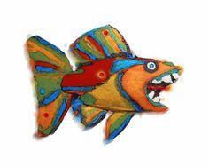 Whimsical Fish Wall Art | Fish Art - Original Colorful Whimsical Fish Art Limited Edition ...