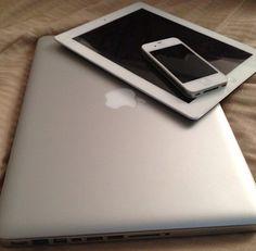 Mac book pro, iPad, and iPhone