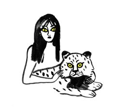 ilustraciones en blanco y negro: Coco Factory, France #MariaVictrix