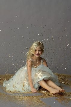 Glitter. Every little girl should have this pic.