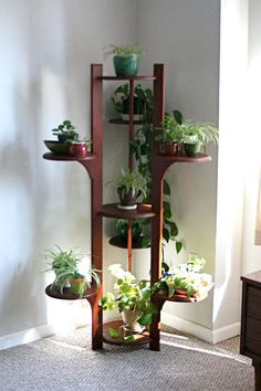 12 extraordinary diy plant stands diy plant stand plants and gardens - Corner shelf for plants ...