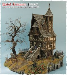 All about 28mm gaming buildings, accessories, and modelling