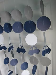 Car Garlands, Boy Baby Shower, 1st Birthday Garlands, Car Decorations, Paper Garlands, Cars Theme Party by SuzyIsAnArtist on Etsy https://www.etsy.com/listing/223131536/car-garlands-boy-baby-shower-1st