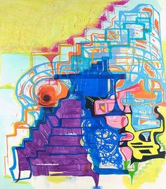 Joanne Greenbaum Untitled 2006 80 x 70 inches oil on canvas