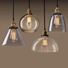 Moderne suspendu vintage lustre avec plafond lampes en verre pour le salon