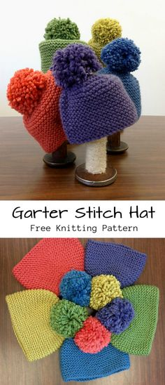 Garter Stitch Hat Free Knitting PatternYou can find Garter stitch and more on our website. Baby Knitting Patterns, Baby Hats Knitting, Easy Knitting, Loom Knitting, Knitted Hats, Crochet Hats, Knitting For Charity, Sweater Patterns, Shawl Patterns