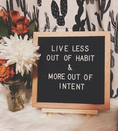 Live out of intent #lovelife #lifequotes