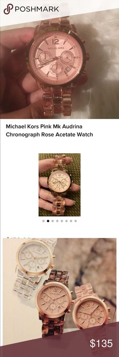 Michael kors Adrina rose gold watch Used in great condition. Battery still works, I love this watch the only reason I'm selling is I never use it due to my Apple Watch. Comes with box and I think I have price tags still will have to double check. Michael Kors Accessories Watches