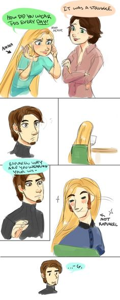 Frozen Actor!AU: That's a lot of hair! by maybelletea on DeviantArt CRYING OHGOSH