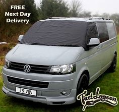 VW Transporter T4 Window Screen Cover Curtain Wrap Frost Black Blind Eyes Orange