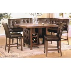booth dining set, what a great space saver