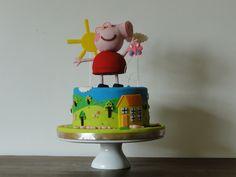 Bolo Peppa Pig todo comestível!Aniversario Joana!