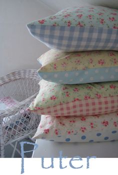 spring pillows - if you have sewing skills, make several homespun pillow covers for your sofas.