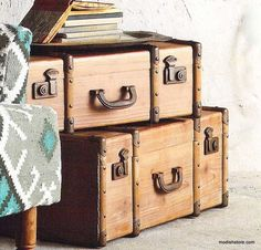 $815.00 Roost Fir Nested Trunks - Set Of 3