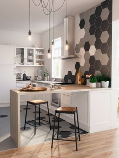Prodigious Cool Tips: Narrow Kitchen Remodel Pantry Design kitchen remodel with island chip and joanna gaines.Kitchen Remodel Backsplash Ceilings old small kitchen remodel.Old Small Kitchen Remodel. Home Living, Living Room Kitchen, New Kitchen, Kitchen Decor, Kitchen Layout, Awesome Kitchen, Vintage Kitchen, 1970s Kitchen, Ranch Kitchen