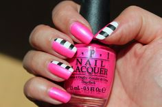 Polished Polyglot: NOTD: Neon and stripes