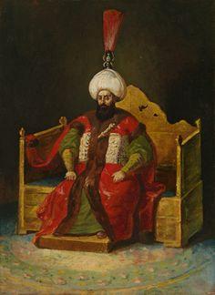 Théodore Géricault ~ Un pacha, d'après un portrait officiel du sultan Mustapha IV, ca. 1818-1820