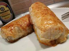 Tavaszi tekercs (sütőben) Chinese Food, Pork, Food And Drink, Pizza, Turkey, Favorite Recipes, Asian, Meat, Cooking