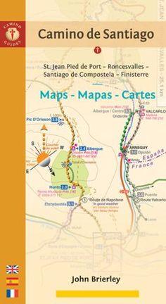 Camino de Santiago Maps - Mapas - Cartes: St. Jean Pied de Port - Roncesvalles…