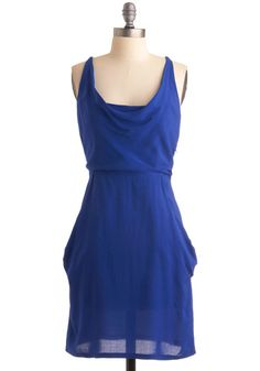 Cobalt blue slip dress