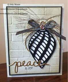 Stampin' Up!'s 'Embellished Ornaments' in neutrals and gold.