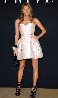 Anna Dello Russo front-row at Giorgio Armani Privé#FW2014 Couture Fashion Show.