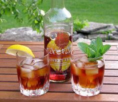 Mo-Tea-Tos - firefly vodka, club soda & lime: one recipe calls for just firefly vodka, another calls for firefly mint tea vodak, which would make the most sense being that the recipe is a riff on the mojito, either way I want one!