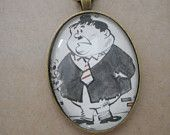 Laurel and Hardy gift, laurel and hardy necklace,vintage book page necklace, upcycled book, vintage book, book page necklace