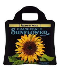Take a look at this Sunflower Crate Reusable Shopping Bag - Set of Two by Insak on #zulily today!